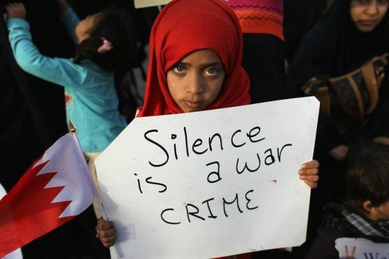 Silence is a war crime