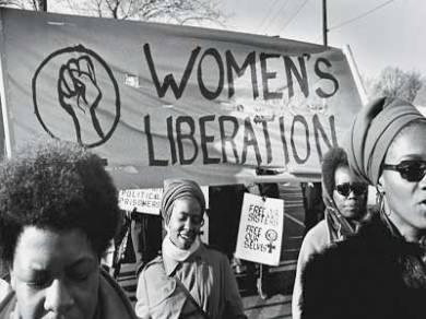 Black feminists marching