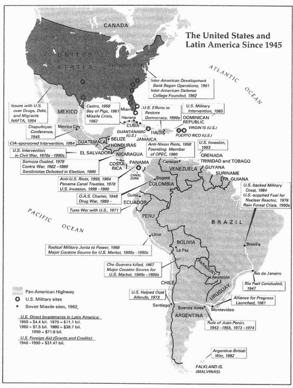 U.S. Interventions in Latin America Since 1945