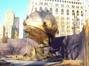 """There is a picture of my Honduran abuelita sitting by this """"Sphere,"""" when it was still between the Twin Towers"""